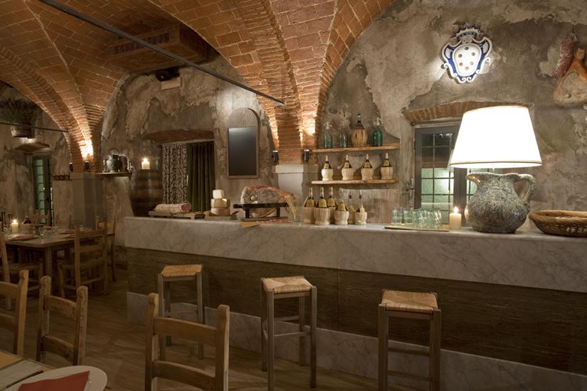 Fabio Madiai Interior Designer - Il ristorante in stile - La Buca Fiorentina dei Medici